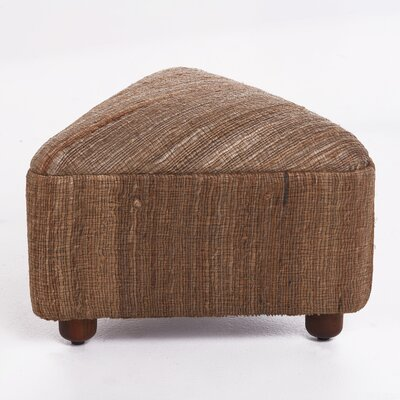 Lisse Ottoman with Wood Frame Upholstery: Cappuccino