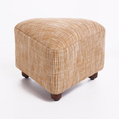 Lisse Ottoman with Wood Frame Upholstery: Tan