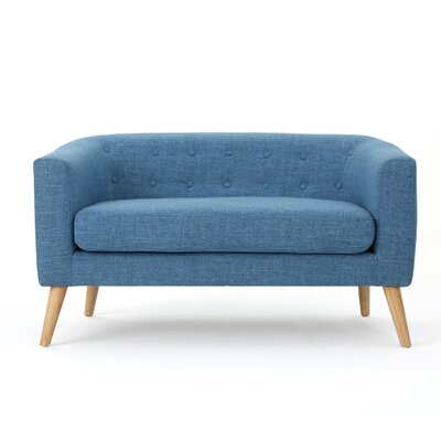 Pawlet Fabric Loveseat Color: Blue