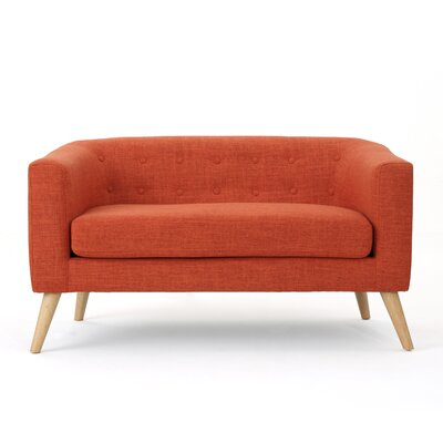 Pawlet Fabric Loveseat Color: Orange