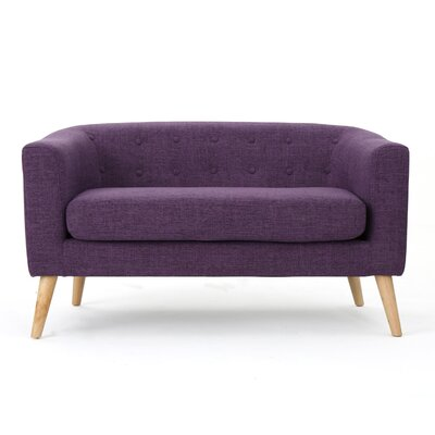 Pawlet Fabric Loveseat Color: Purple