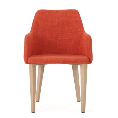 Image of Pomfret Dining Chair Color: Muted Orange