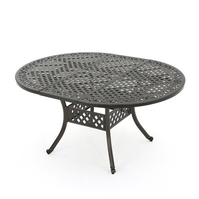 Brownell Outdoor Expandable Dining Table Finish: Hammered Bronze
