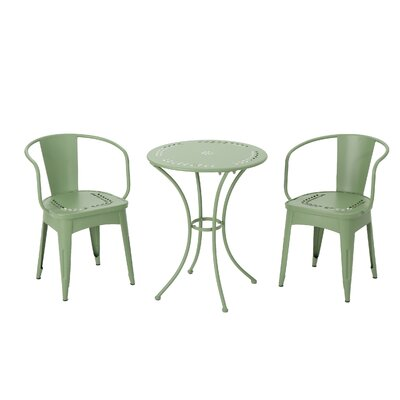 Springmont Outdoor 3 Piece Bistro Set Color: Matte Green
