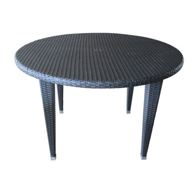 Crantor Outdoor Wicker Dining Table Finish: Gray