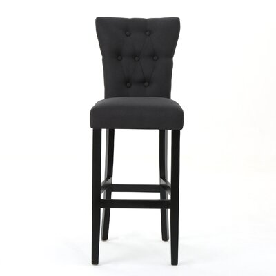 Schiller 30 Bar Stool Upholstery: Dark Charcoal