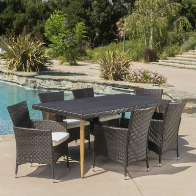 Middletown Outdoor 7 Piece Dining Set with Cushions