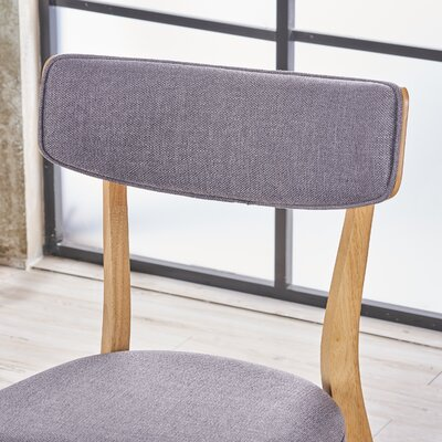 Putnam Upholstered Wood Dining Chair Upholstery Color: Light Beige, Frame Color: Walnut