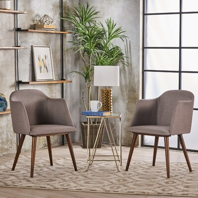 Newington Upholstered Dining Chair Upholstery Color: Dark Beige