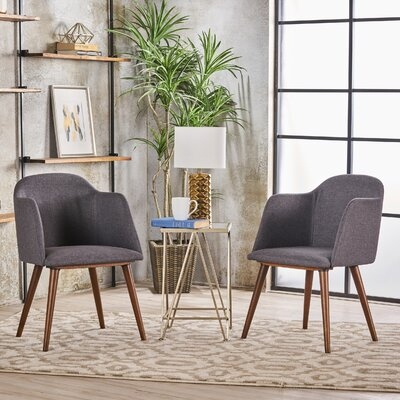 Newington Upholstered Dining Chair Upholstery Color: Charcoal