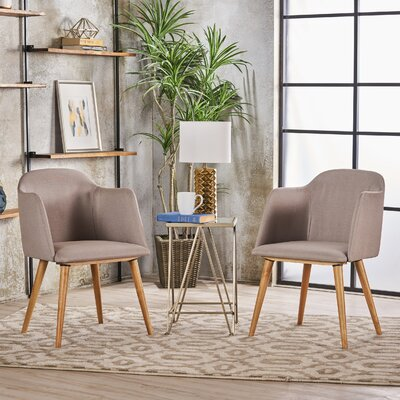Newington Upholstered Dining Chair Upholstery Color: Beige