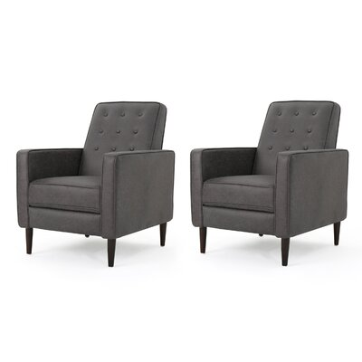 Kenzie Fabric Recliner with Track Arms Upholstery: Slate Microfiber