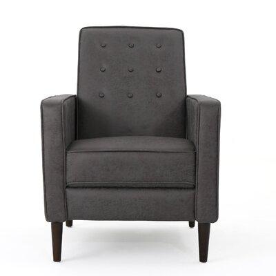 Kenzie Fabric Recliner Upholstery: Slate Microfiber