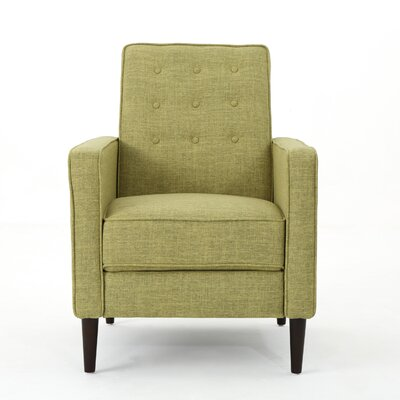 Kenzie Fabric Recliner Upholstery: Muted Green