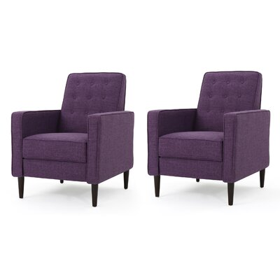 Kenzie Fabric Recliner with Track Arms Upholstery: Muted Purple