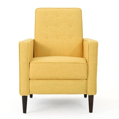Kenzie Fabric Recliner Upholstery: Muted Yellow