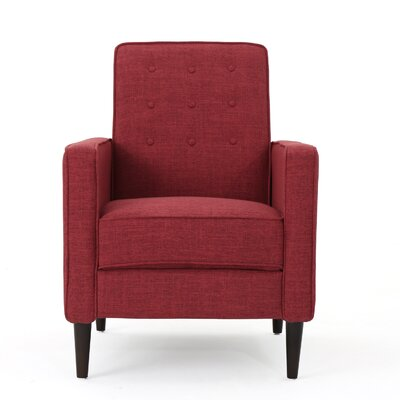 Kenzie Fabric Recliner Upholstery: Red