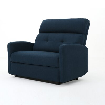 Wamsutter Manual Recliner Color: Navy Blue