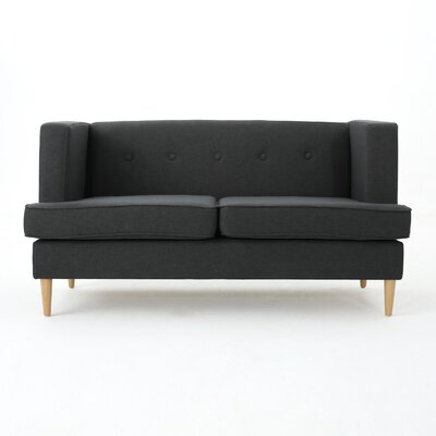 Pannell Fabric Loveseat Color: Dark Grey