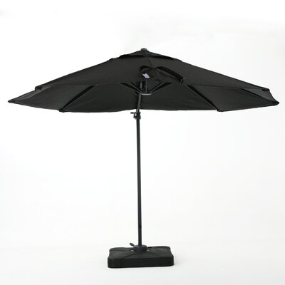 10 Wapping Canopy Cantilever Umbrella Color: Black