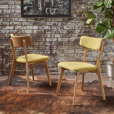 Putnam Upholstered Dining Chair Upholstery Color: Green Tea, Frame Color: Oak