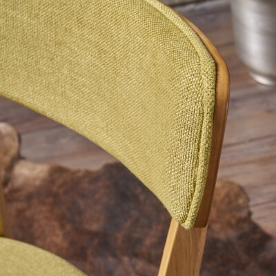 Putnam Upholstered Dining Chair Upholstery Color: Green Tea, Frame Color: Oak
