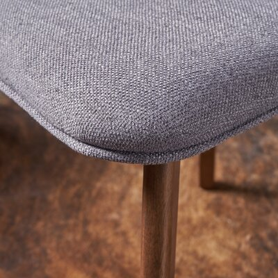 Putnam Upholstered Dining Chair Upholstery Color: Dark Gray, Frame Color: Walnut