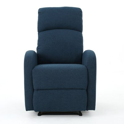 Dunkley Fabric Recliner Color: Navy Blue