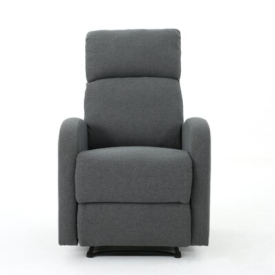 Dunkley Fabric Recliner Color: Charcoal