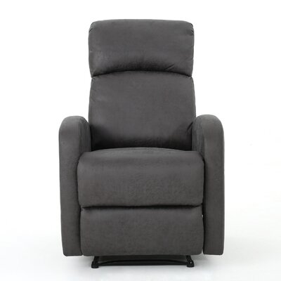 Dunkley Fabric Recliner Color: Slate