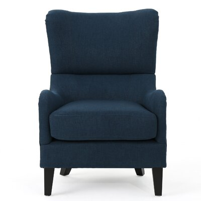 Wingback Chair Upholstery: Navy Blue