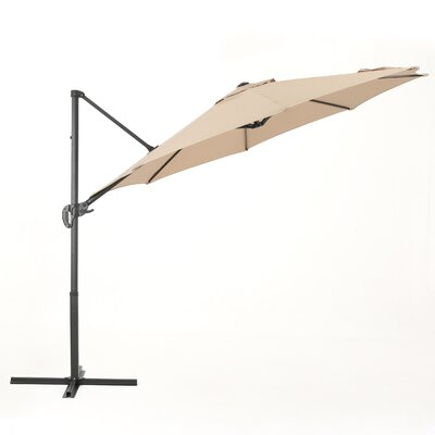Jaelynn 11.5 Square Cantilever Umbrella Color: Sand