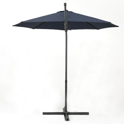 Jaelynn 11.5 Square Cantilever Umbrella Color: Blue