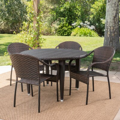 Stricker 5 Piece Dining Set Color: Brown
