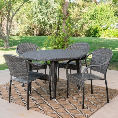 Stricker 5 Piece Dining Set Color: Gray
