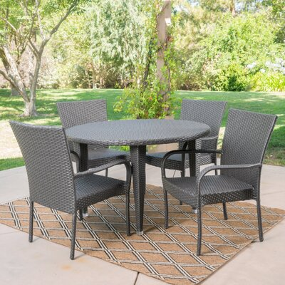 Straker 5 Piece Dining Set Color: Gray