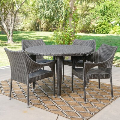 Wenona 5 Piece Dining Set Color: Gray