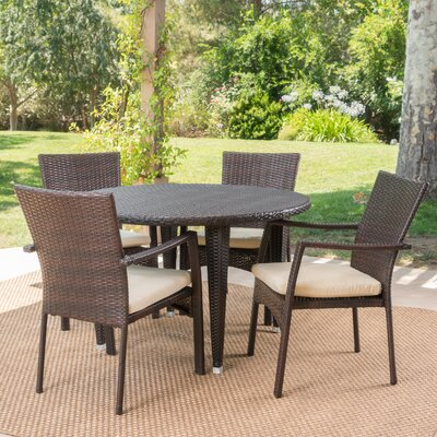 Westmont 5 Piece Dining Set Color: Brown