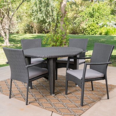 Westmont 5 Piece Dining Set Color: Gray