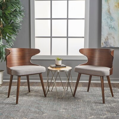 Busti Solid Wood Dining Chair Color: Dark Beige