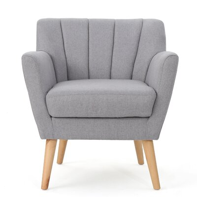 Bovina Armchair Upholstery: Light Gray