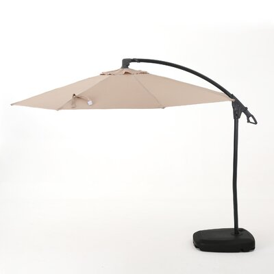Desirat 9.7 Square Cantilever Umbrella Color: Sand