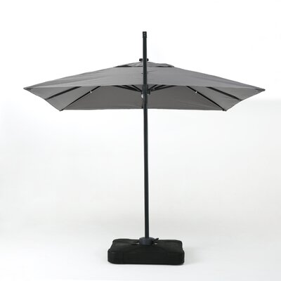 Jendayi 9.7 Square Cantilever Umbrella Color: Gray