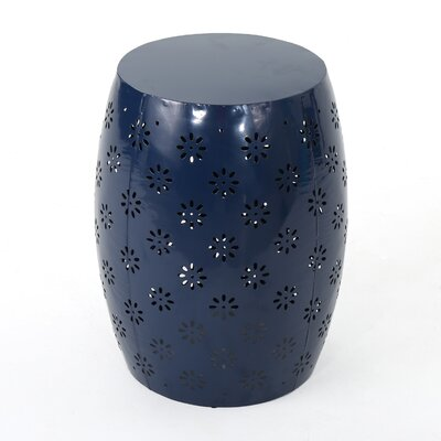 Pastrana Iron Side Table Color: Dark Blue