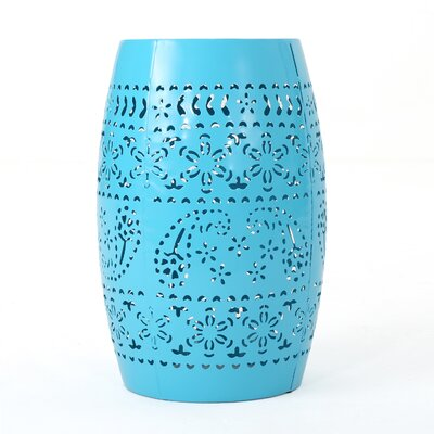 Ifrane Accent End Table Color: Blue