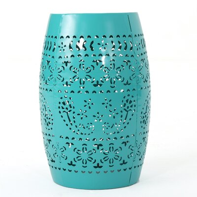 Ifrane Accent End Table Color: Teal