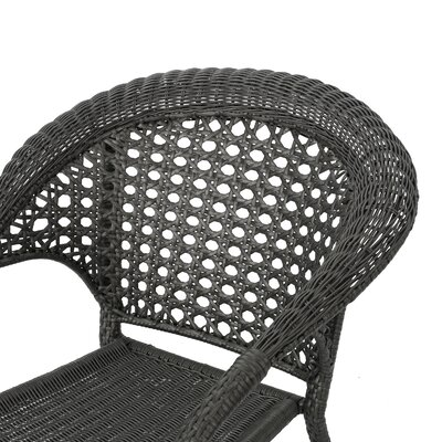 Emelia Outdoor Wicker 5 Piece Dining Set