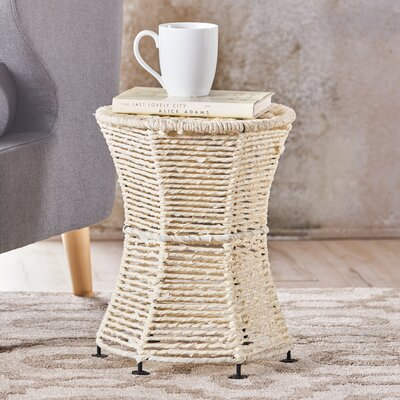 Radu End Table Color: Ivory