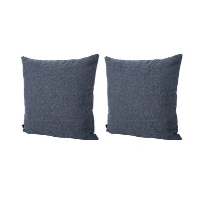 Duhart Fabric Square Throw Pillow Color: Dark Blue