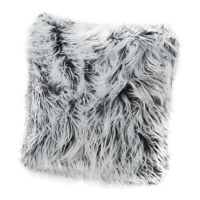 Beaufort Faux Fur Square Throw Pillow Color: Silver